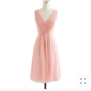 J Crew Louisa silk chiffon dress